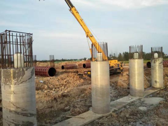 滁州大道桩基施工圆满完成